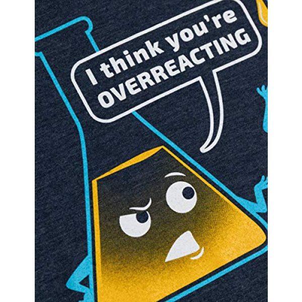 Ann Arbor T-shirt Co. Graphic Tshirt 5 You're Overreacting   Chemistry Humor, Funny Science Teacher Pun Women's T-Shirt