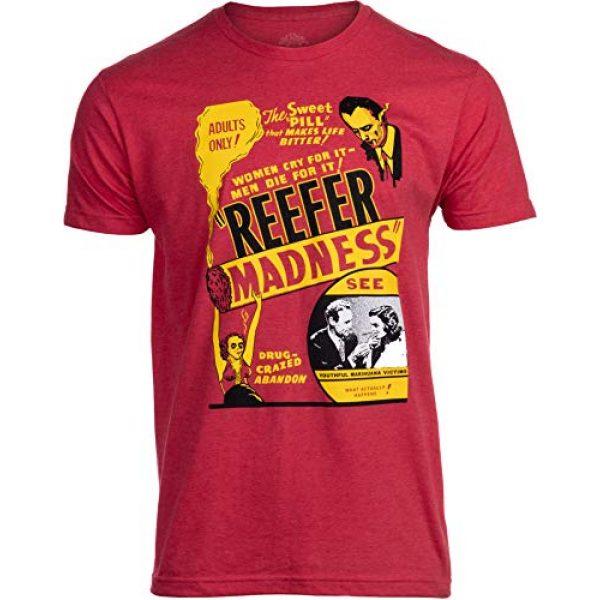 Ann Arbor T-shirt Co. Graphic Tshirt 1 Reefer Madness (1936 Poster) | Funny Absurd Vintage Drug War Marijuana Weed Pot Propaganda Men Women T-Shirt
