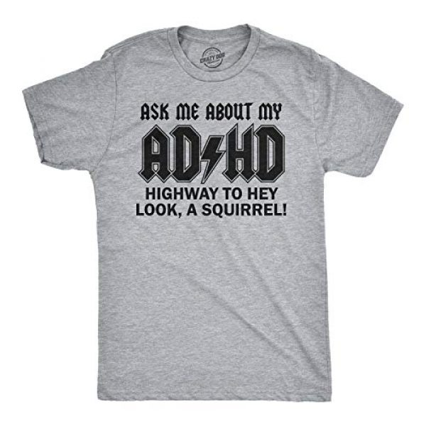 Crazy Dog T-Shirts Graphic Tshirt 2 Ask Me About My ADHD T Shirt Funny Squirrel Flip Hilarious Graphic Cool Tee