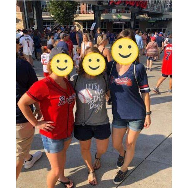 DUDUVIE Graphic Tshirt 5 Women Let's Do This Boy Baseball Mom Tshirt Casual Letter Print Tops Tee
