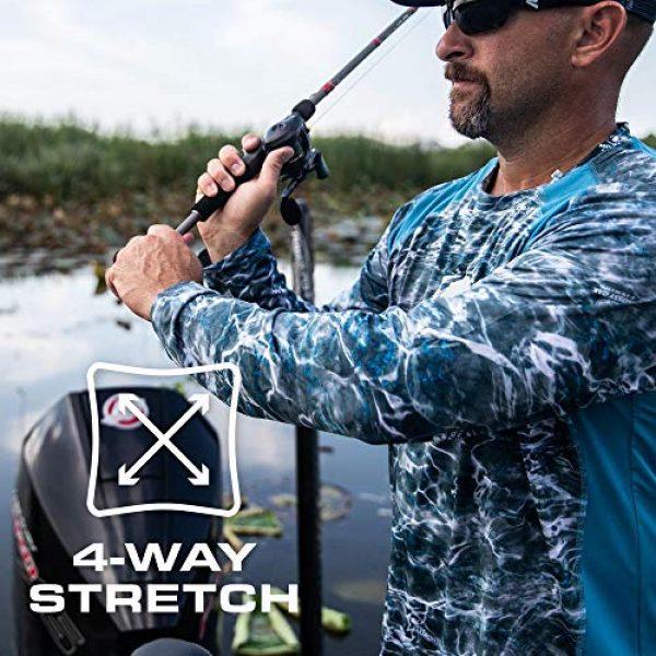 Mossy Oak Graphic Tshirt 3 HUK Mossy Oak Double Header Vented Fishing Long Sleeve Shirt, Mossy Oak Hydro Reflex, L