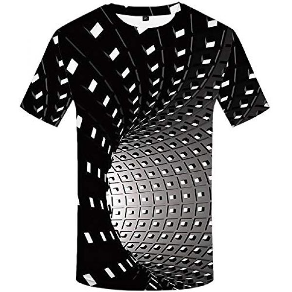 KYKU Graphic Tshirt 1 Unisex 3D Printed Creative Funny Graphic Short Sleeve Round Neck T Shirt