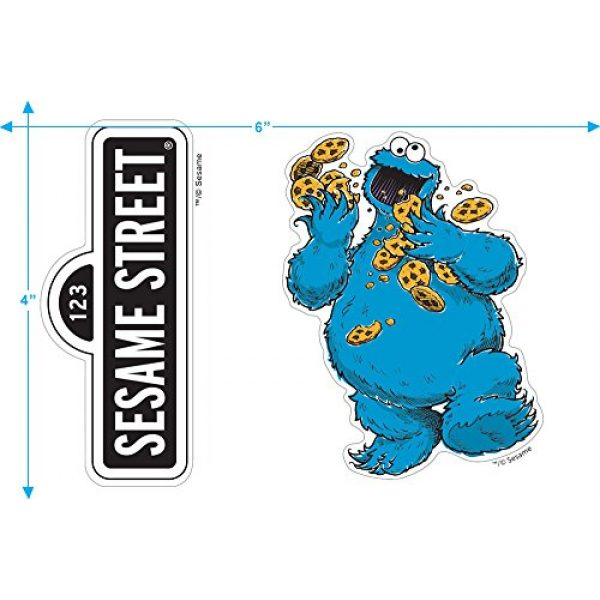 Popfunk Graphic Tshirt 3 Sesame Street Cookie Monster T Shirt & Stickers
