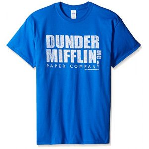 T-Line Graphic Tshirt 1 Men's The Office Tv Series Dunder Mifflin Distressed Graphic T-Shirt