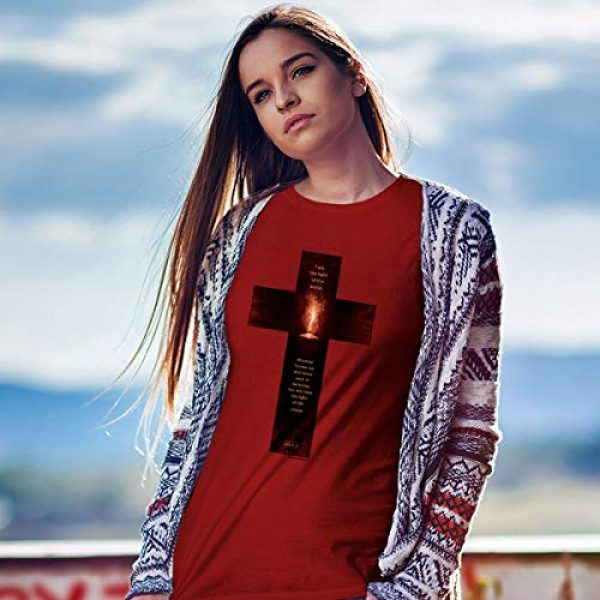 Kerusso Graphic Tshirt 4 Men's Light of The World Cross T-Shirt - Cardinal -