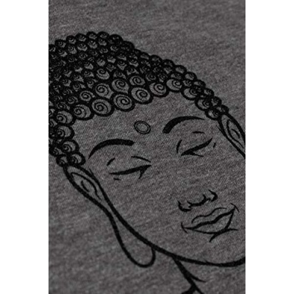 Ann Arbor T-shirt Co. Graphic Tshirt 5 Let That Sht Go | Funny Zen Buddha Yoga Mindfulness Peace Hippy Women T-Shirt
