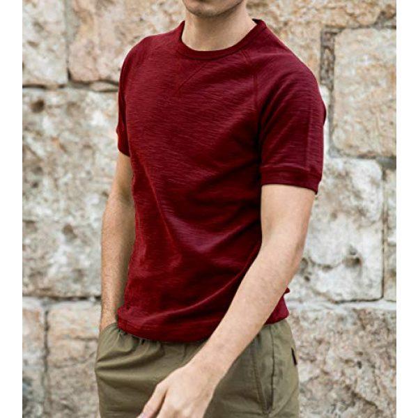 PEGENO Graphic Tshirt 2 Men's Spring-Summer Short-Sleeve T-Shirt Slim Bottoming Shirts