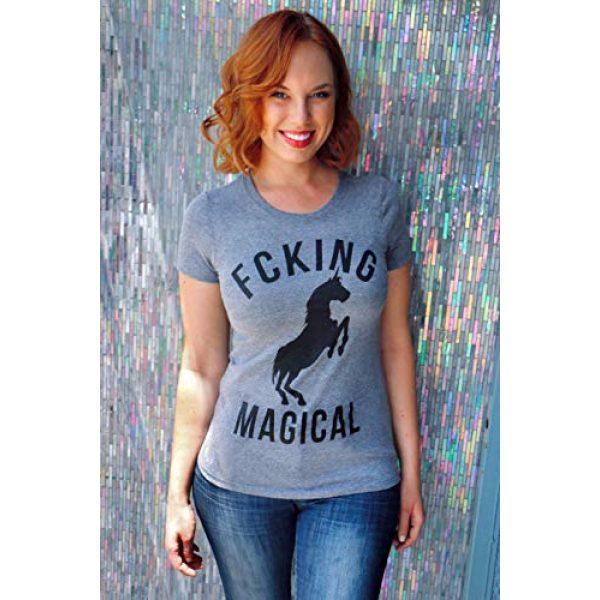 Crazy Dog T-Shirts Graphic Tshirt 2 Womens Magical Funny T Shirt Unicorn Vintage Tee Cool Cute 90s Novelty T Shirt
