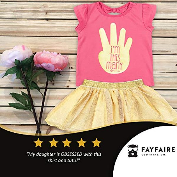 Fayfaire Graphic Tshirt 2 4th Birthday Shirt Outfit: Boutique Quality Fourth Bday Im This Many 4T