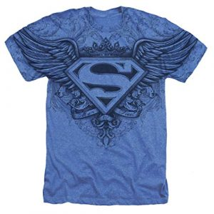 Popfunk Graphic Tshirt 1 Superman Winged S Shield Logo All Over T Shirt & Stickers