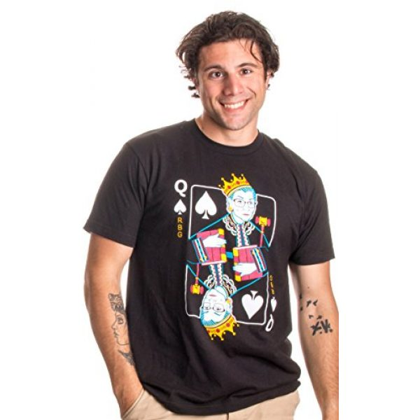 Ann Arbor T-shirt Co. Graphic Tshirt 2 Queen R.B.G. Funny Progressive Liberal Ruth Bader Ginsburg Unisex RBG T-Shirt