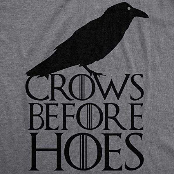 Crazy Dog T-Shirts Graphic Tshirt 2 Mens Crows Before Hoes Funny T Shirt for Men Vintage Novelty Hilarious Gag Gift