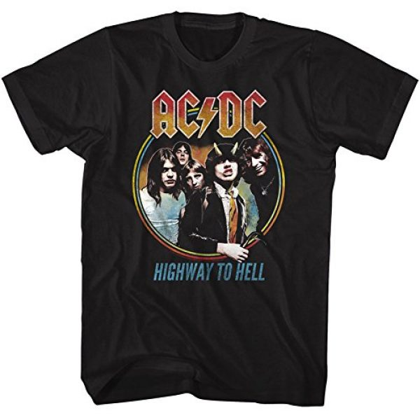 American Classics Graphic Tshirt 2 AC/DC Hard Rock Band Music Group Highway to Hell Adult T-Shirt Tee