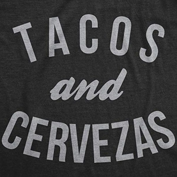 Crazy Dog T-Shirts Graphic Tshirt 2 Womens Tacos and Cervezas Funny T Shirts Cool Vintage Graphic Tee Cute Saying