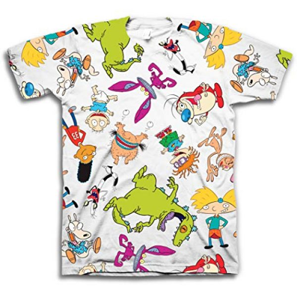 Nickelodeon Graphic Tshirt 1 Mens 90's Classic Shirt - Rugrats, Invader Zim, Ren & Stimpy, and Hey Arnold Vintage T-Shirt