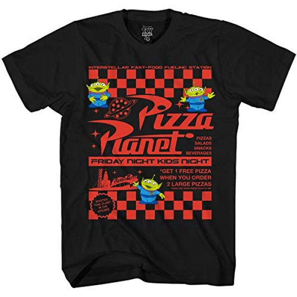 Disney Graphic Tshirt 1 Pixar Toy Story Pizza Planet Take Out Flyer Disneyland World Tee Funny Humor Men's Graphic T-Shirt