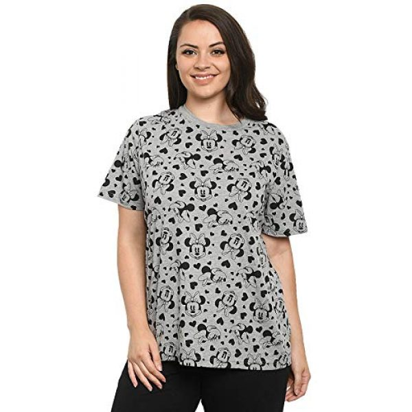 Disney Graphic Tshirt 3 Womens T-Shirt Mickey & Minnie Mouse All Over Print