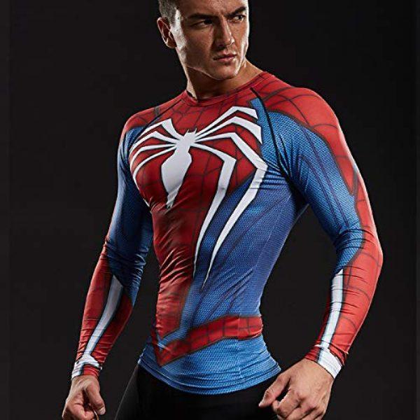 COOLMAX Graphic Tshirt 6 Raglan Sleeve Spiderman 3D Printed T Shirts Men Compression Shirts