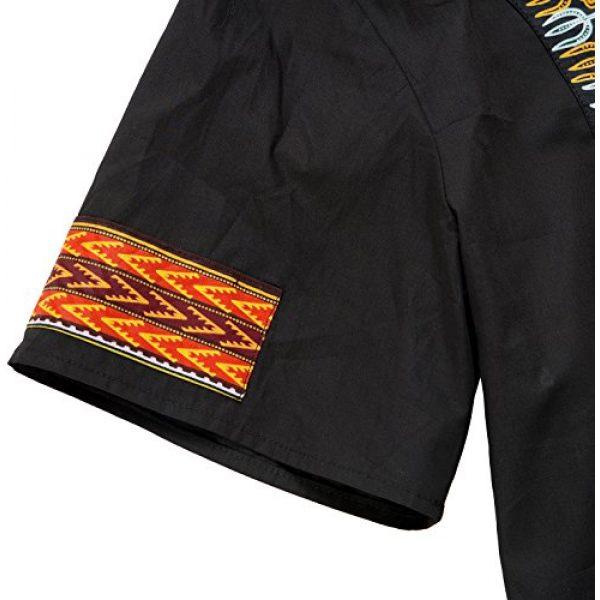 Shenbolen Graphic Tshirt 4 Men's African Print Shirt Dashiki Fashion T-Shirt Tops