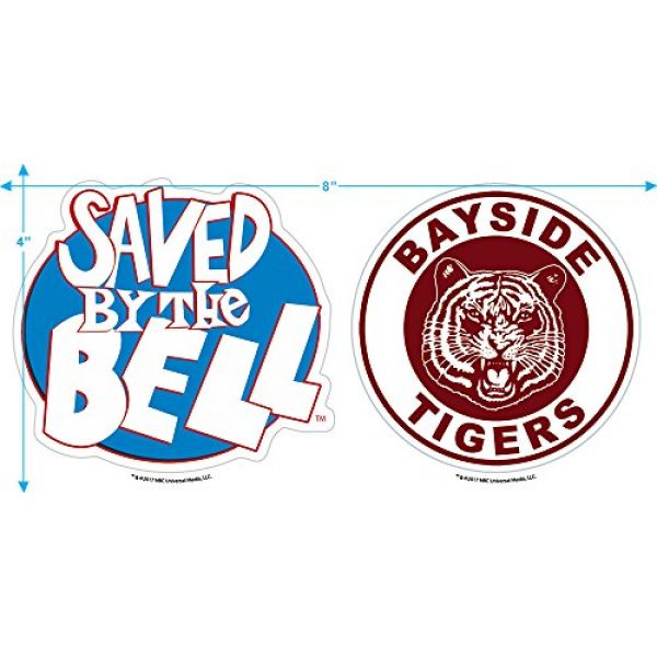 Popfunk Graphic Tshirt 3 Saved by The Bell Bayside Tigers Women's T Shirt & Stickers