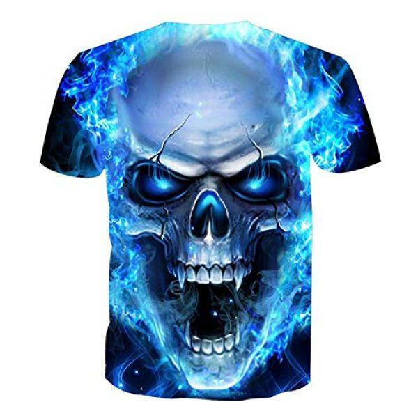 Volanic Graphic Tshirt 2 Unisex 3D Digital Printed Pattern Short Sleeve T-Shirts for Men Women