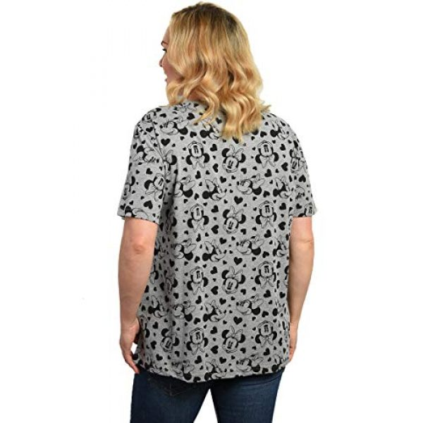 Disney Graphic Tshirt 2 Women's Plus Size T-Shirt Minnie Mouse Hearts All Over Print