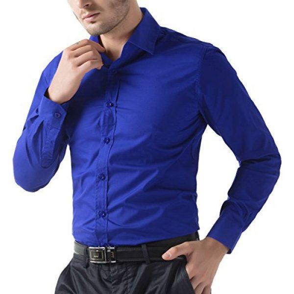 PJ PAUL JONES Graphic Tshirt 5 Paul Jones Men's Long Sleeves Button Down Dress Shirts