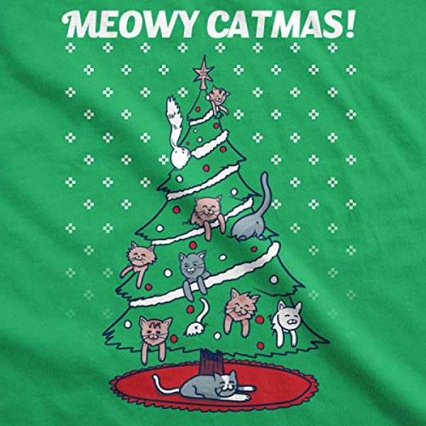 Crazy Dog T-Shirts Graphic Tshirt 2 Mens Meowy Christmas Funny Cat Dad Ugly Sweater T Shirt Adult Humor Sarcastic