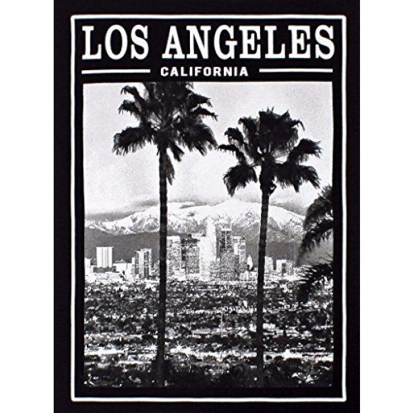 tees geek Graphic Tshirt 2 California Republic Los Angeles Twin Palms Men's T-Shirt