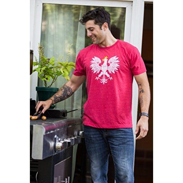 Ann Arbor T-shirt Co. Graphic Tshirt 5 Poland Pride | Vintage Style, Retro-Feel Polish Eagle Polska Unisex T-Shirt