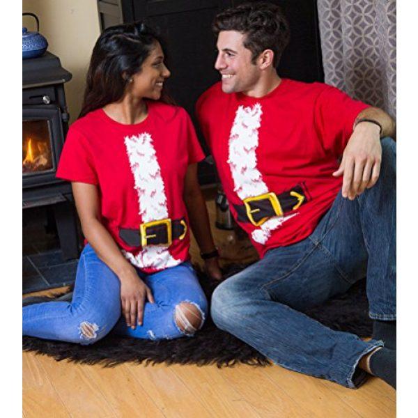 Ann Arbor T-shirt Co. Graphic Tshirt 5 Santa Claus Costume | Jumbo Print Novelty Christmas Holiday Humor Unisex T-Shirt