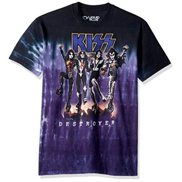 Liquid Blue Graphic Tshirt 1 Men's Kiss Destroyer Short Sleeve T-Shirt