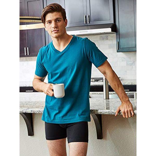 Bolter Graphic Tshirt 4 4 Pack Men's Everyday Cotton Blend V Neck Short Sleeve T Shirt