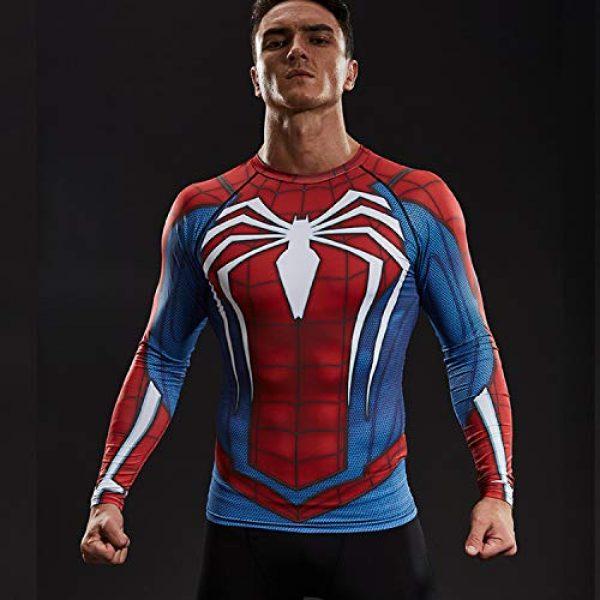 COOLMAX Graphic Tshirt 3 Raglan Sleeve Spiderman 3D Printed T Shirts Men Compression Shirts