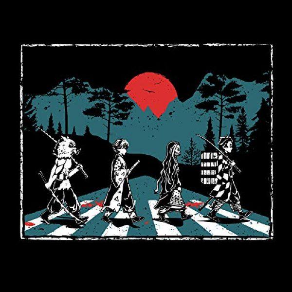 Tee No Evil Graphic Tshirt 2 Demon Slayer Abbey Road Tanjiro Nezuko Zenitsu Inosuke T Shirt