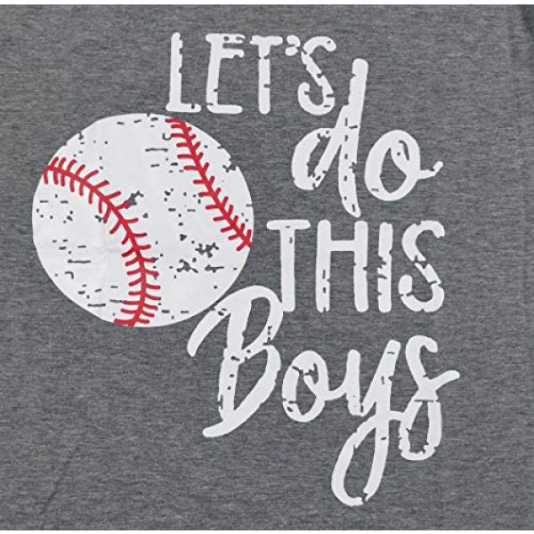 DUDUVIE Graphic Tshirt 2 Women Let's Do This Boy Baseball Mom Tshirt Casual Letter Print Tops Tee