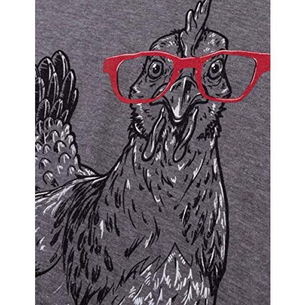 Ann Arbor T-shirt Co. Graphic Tshirt 5 Cute Glasses Chick | Funny Backyard Chicken Hen Chiken 4H Farm Egg Humor V-Neck T-Shirt for Women