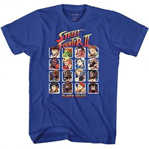 American Classics Graphic Tshirt 2 Street Fighter Video Martial Arts Arcade Game Player Select Adult T-Shirt Tee
