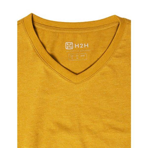 H2H Graphic Tshirt 5 Mens Casual Slim Fit Long Sleeve V-Neck T-Shirts