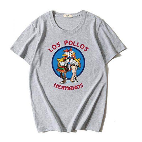 YAO STARS Graphic Tshirt 7 Breaking Bad Los Pollos Hermanos Ringer T-Shirts Men Short Sleeve Tops Tee Shirts