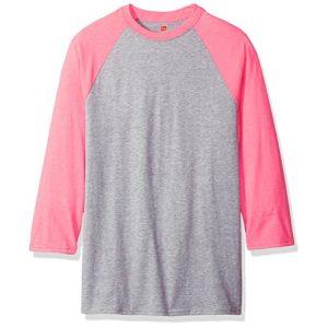 Hanes Graphic Tshirt 1 Men's X-Temp Raglan Baseball Tee