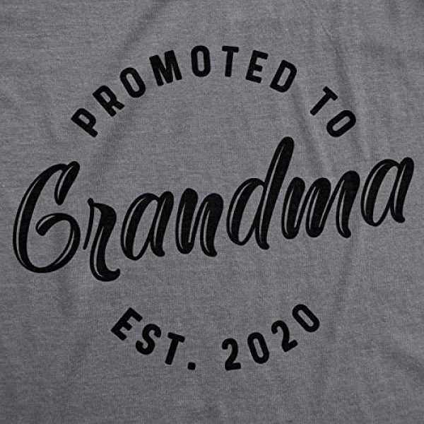 Crazy Dog T-Shirts Graphic Tshirt 2 Womens Promoted to Grandma Est 2020 T Shirt Best Gift Funny Novelty Graphic Tee