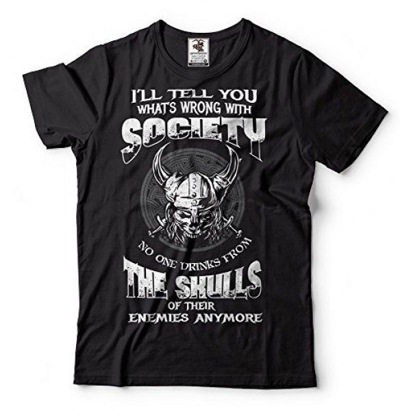Silk Road Tees Graphic Tshirt 1 Viking T-Shirt Valhalla Viking Skulls Odin Valknut Tee Shirt