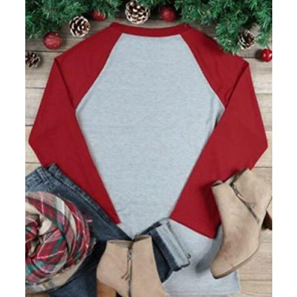 JINTING Graphic Tshirt 2 Im The Sassy Elf Shirts Women Raglan Christmas Baseball Shirts Letter Print 3/4 Sleeve Graphic Tee Shirts