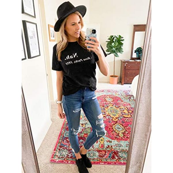 Vanbuy Graphic Tshirt 2 Too Blessed Shirt for Women Short Sleeve Letter Print Tee Summer Tops Tshirt with Sayings