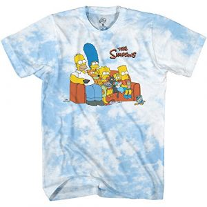 The Simpsons Graphic Tshirt 1 Mens' Krusty The Clown Shirt Krusty Burger Logo Tee Graphic T-Shirt