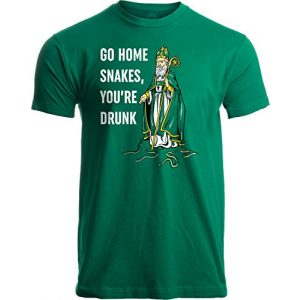 Ann Arbor T-shirt Co. Graphic Tshirt 1 Go Home Snakes, You're Drunk | Funny St. Patrick Paddy's Day Irish Pride T-Shirt