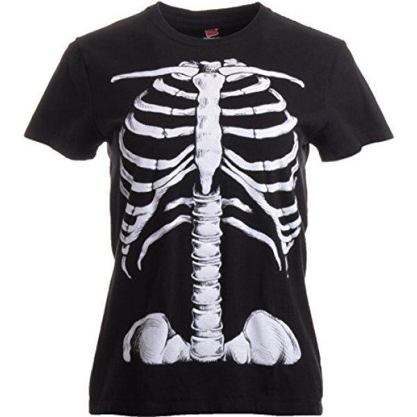 Ann Arbor T-shirt Co. Graphic Tshirt 3 Skeleton Rib Cage | Jumbo Print Novelty Halloween Costume Ladies' T-Shirt