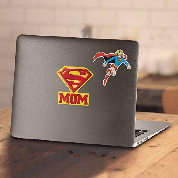 Popfunk Graphic Tshirt 4 Superman Super Mom Pink Logo DC Comics T Shirt & Stickers