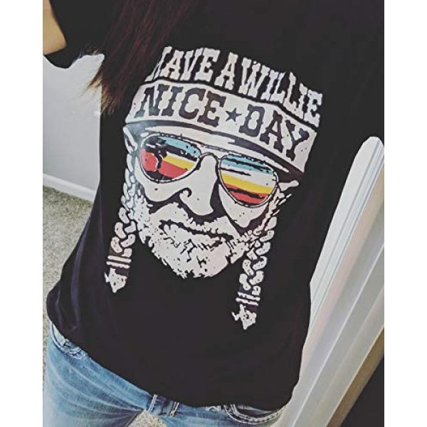 Erxvxp Graphic Tshirt 3 Women I Willie Love The USA & Have A Willie Nice Day Short Sleeve T-Shirts Tops